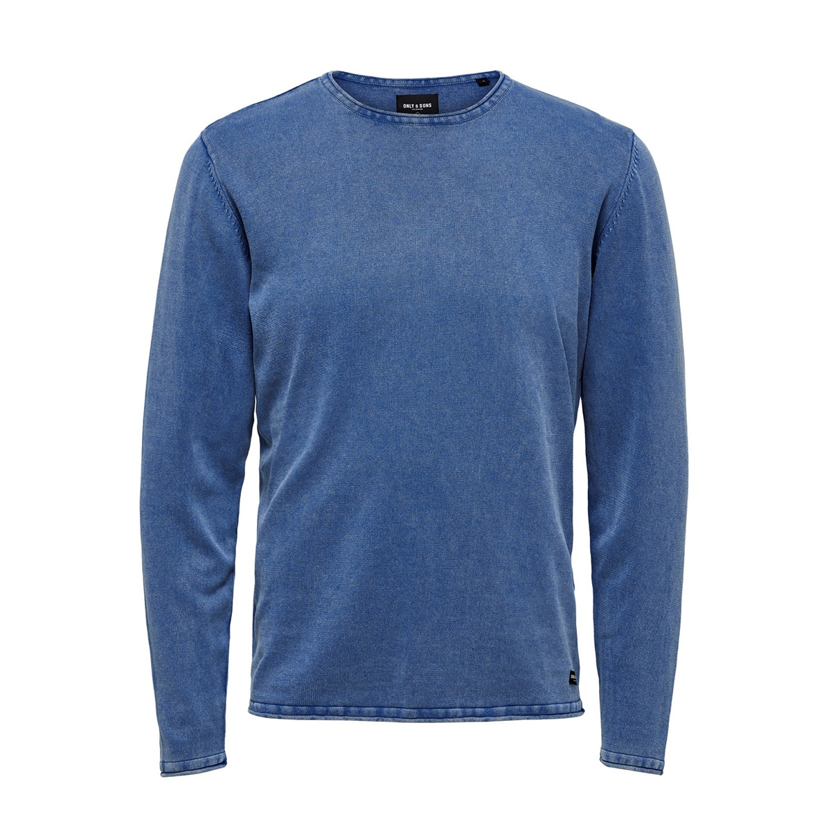 onsgarson wash crew neck knit noos 22006806 only & sons trui baleine blue