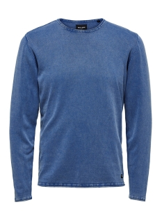 Only & Sons Trui onsGARSON WASH CREW NECK KNIT NOOS 22006806 Baleine Blue