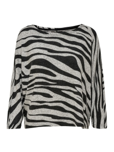 Only Trui ONLNEW MAYE 3/4 BOX PULLOVER CC KNT 15181138 Light Grey Mela/W. ZEBRA