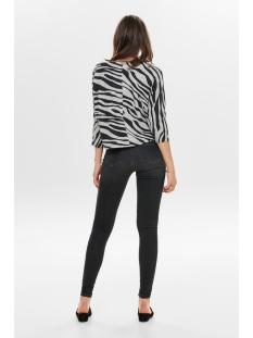 onlnew maye 3/4 box pullover cc knt 15181138 only trui light grey mela/w. zebra