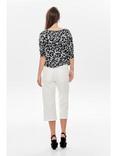 onlnew maye 3/4 box pullover cc knt 15181138 only trui light grey mela/w. leopard