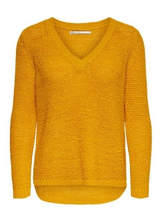 onlgeena l/s v-neck pullover knt 15175267 only trui golden yellow