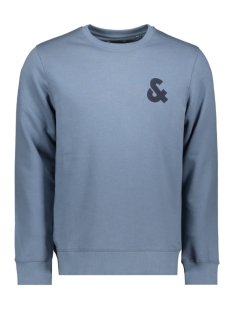 jjechest logo sweat crew neck noos 12155398 jack & jones sweater china blue/reg