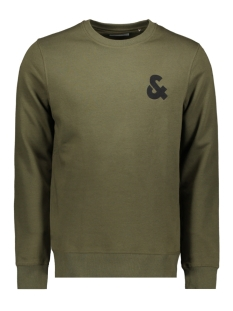 Jack & Jones sweater JJECHEST LOGO SWEAT CREW NECK NOOS 12155398 Olive Night/REG