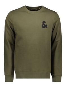 jjechest logo sweat crew neck noos 12155398 jack & jones sweater olive night/reg