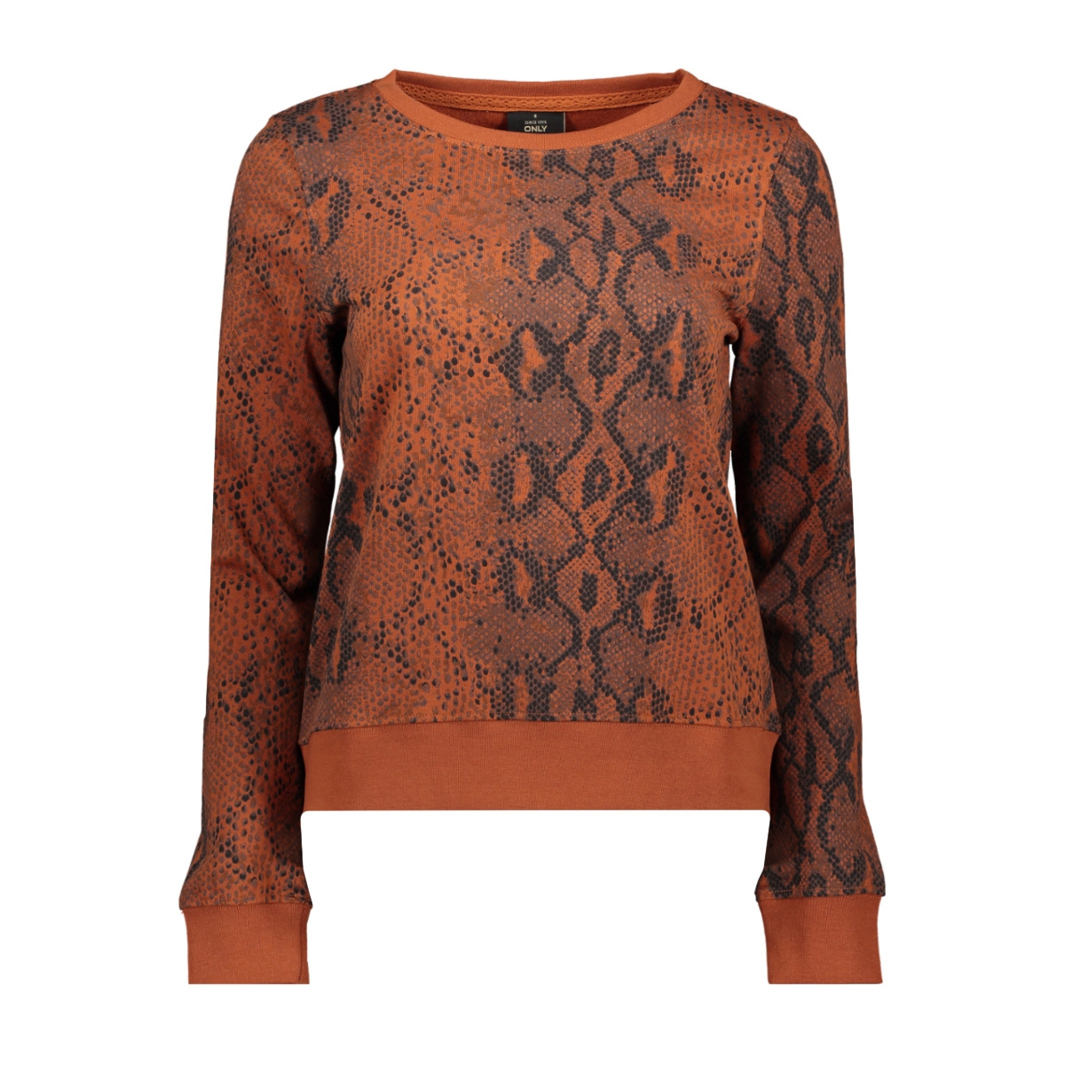 onlisla l/s o-neck sweat swt 15186498 only sweater ginger bread/snake