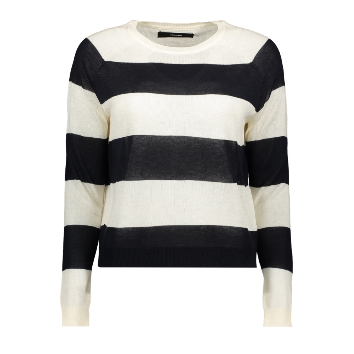 vmlina ls o-neck blouse boo 10215182 vero moda trui pristine/night sky