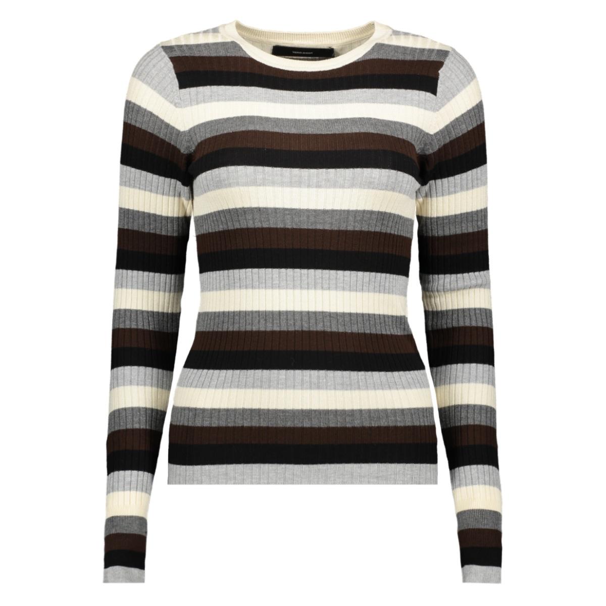 vmstar ls o-neck blouse 10215352 vero moda trui light grey melange