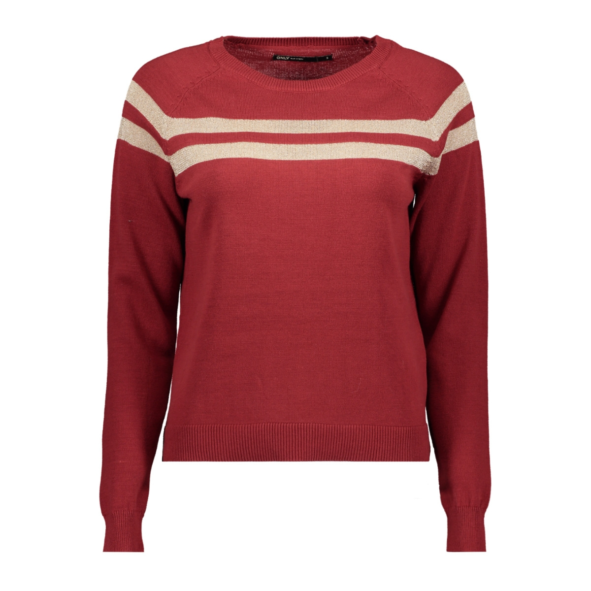 onlamelie l/s pullover knt 15184469 only trui merlot/rose gold