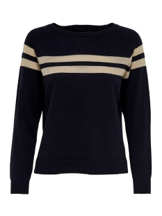 Only Trui ONLAMELIE L/S PULLOVER KNT 15184469 Night Sky/LIGHT GOLD