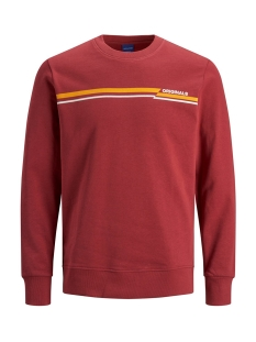 Jack & Jones sweater JORRUDD SWEAT CREW NECK 12158106 Brick Red/SLIM