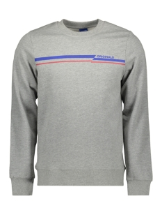 jorrudd sweat crew neck 12158106 jack & jones sweater light grey mela/slim