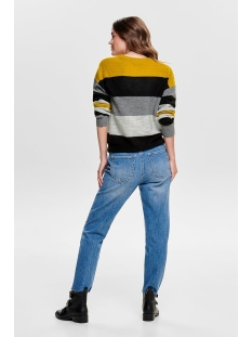 jdynora treats l/s noos pullover kn 15176704 jacqueline de yong trui harvest gold/stripe