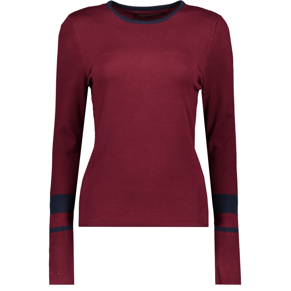 onyemily l/s pullover knt 15185868 only trui tawny port/w. night sky