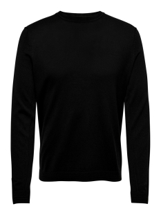 Only & Sons Trui ONSTYLER 12  M CREW NECK KNIT NOOS 22014162 Black