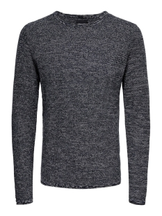 Only & Sons Trui onsWICTOR 12  STRUCTURE CREW NECK N 22012290 Dress Blues