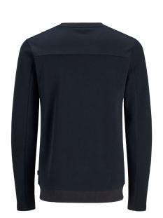 jprcato bla. sweat crew neck 12159824 jack & jones sweater dark navy/slim fit