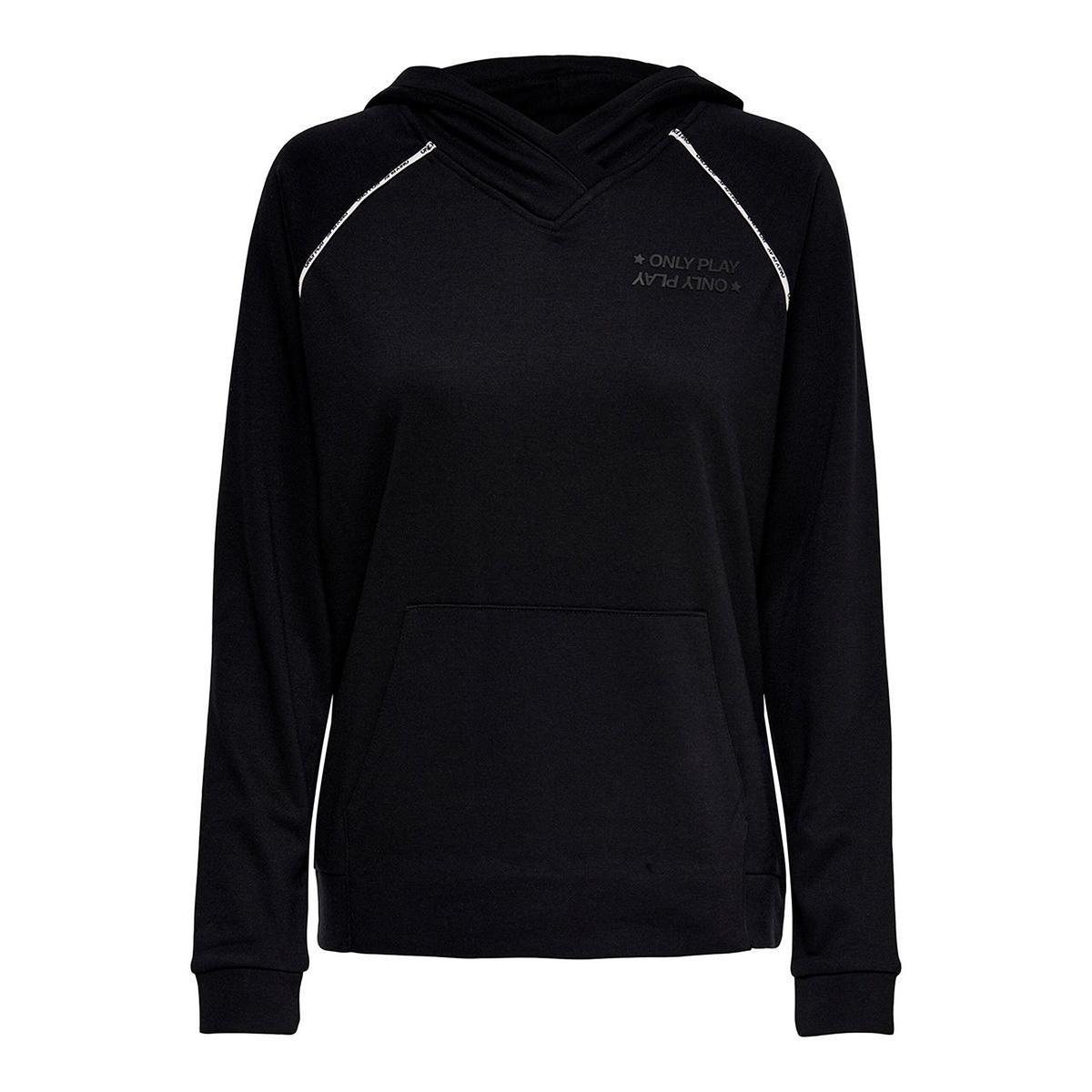 onpaida hood sweat 15175679 only play sport trui black