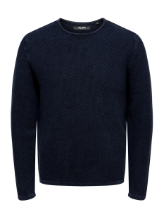 Only & Sons Trui ONSHUGH LINE CREW KNIT NOOS 22007422 Dress Blues