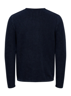 onshugh line crew knit noos 22007422 only & sons trui dress blues