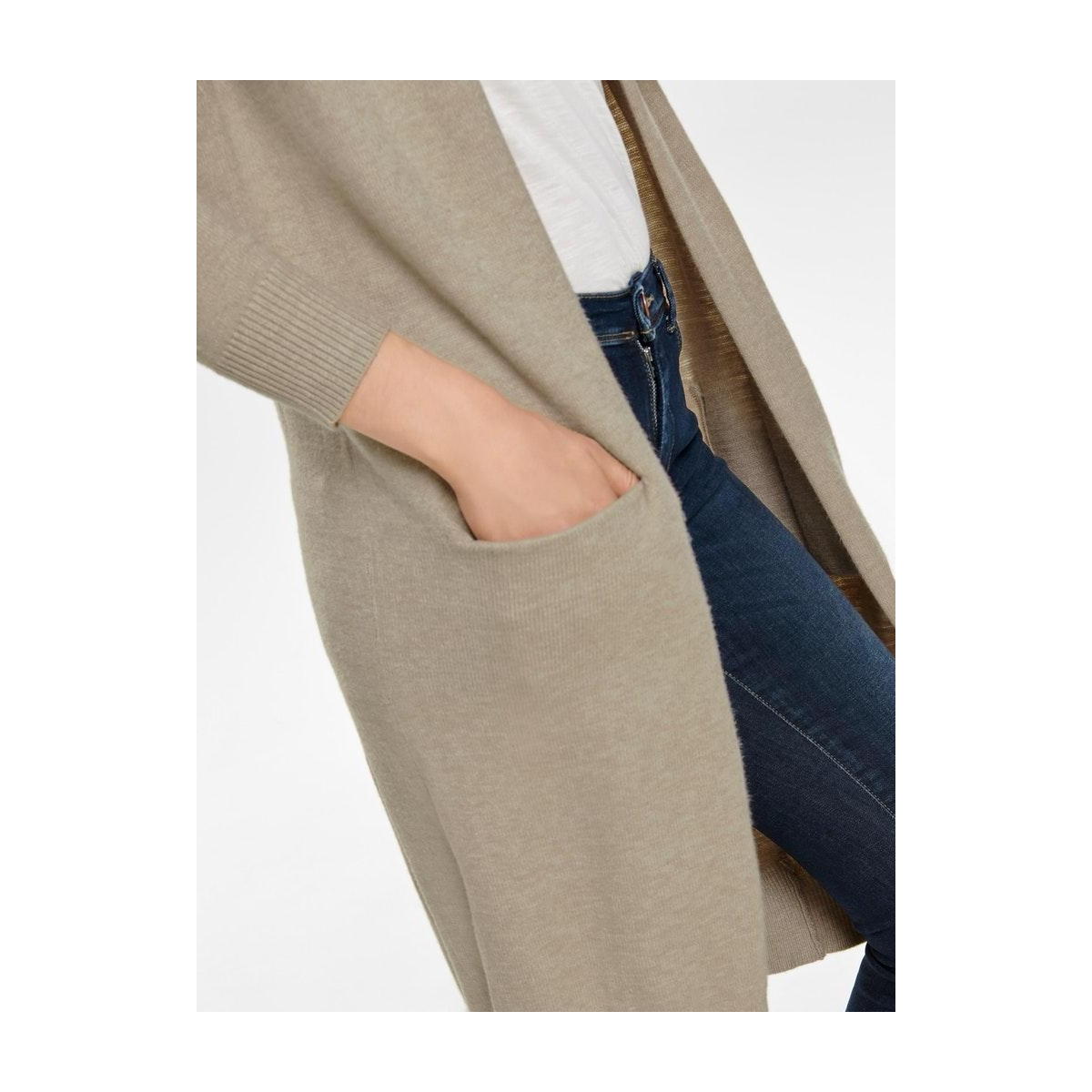 jdymarco  l/s long cardigan knt noos 15184979 jacqueline de yong vest beige/melange