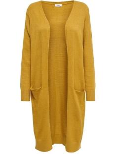 Jacqueline de Yong Vest JDYMARCO  L/S LONG CARDIGAN KNT NOOS 15184979 Harvest Gold/MELANGE