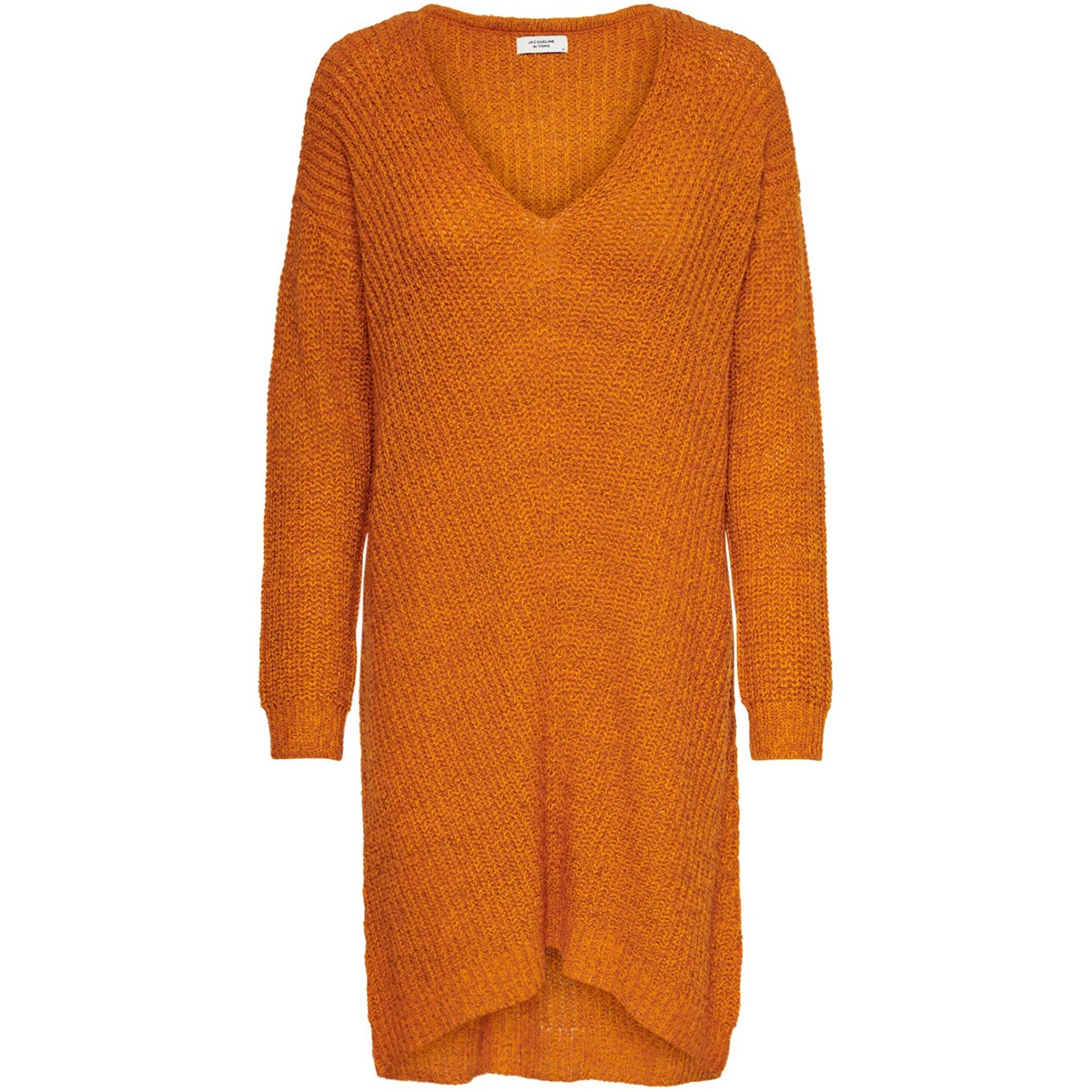 jdytammy l/s v-neck dress knt 15184126 jacqueline de yong jurk autumn maple/melange