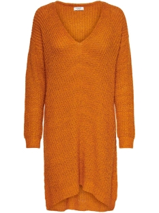 Jacqueline de Yong Jurk JDYTAMMY L/S V-NECK DRESS KNT 15184126 Autumn Maple/MELANGE