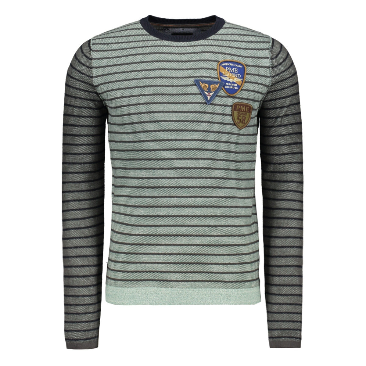 cotton striped crewneck pkw195305 pme legend trui 5224