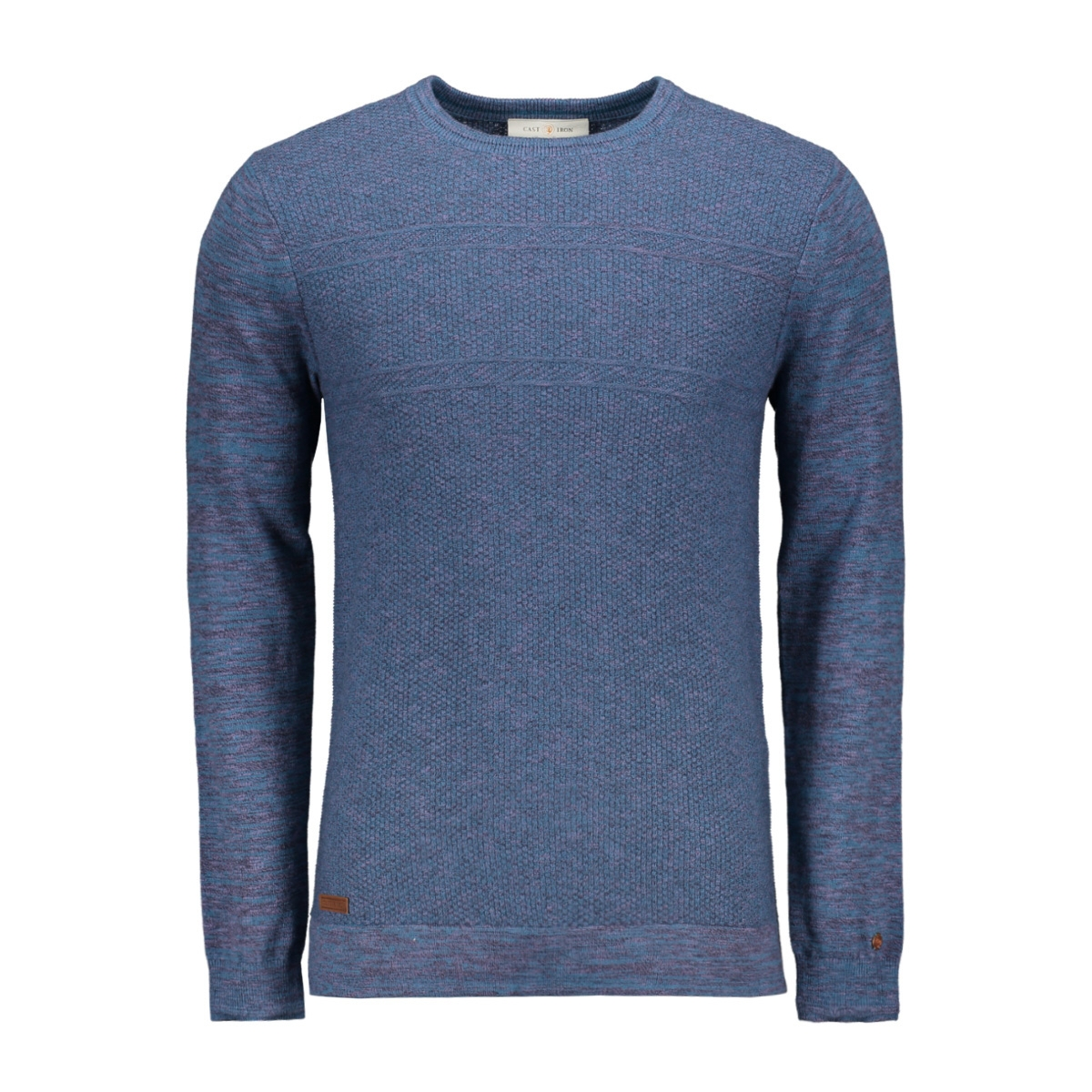 cotton melange knit pullover ckw195401 cast iron trui 5233