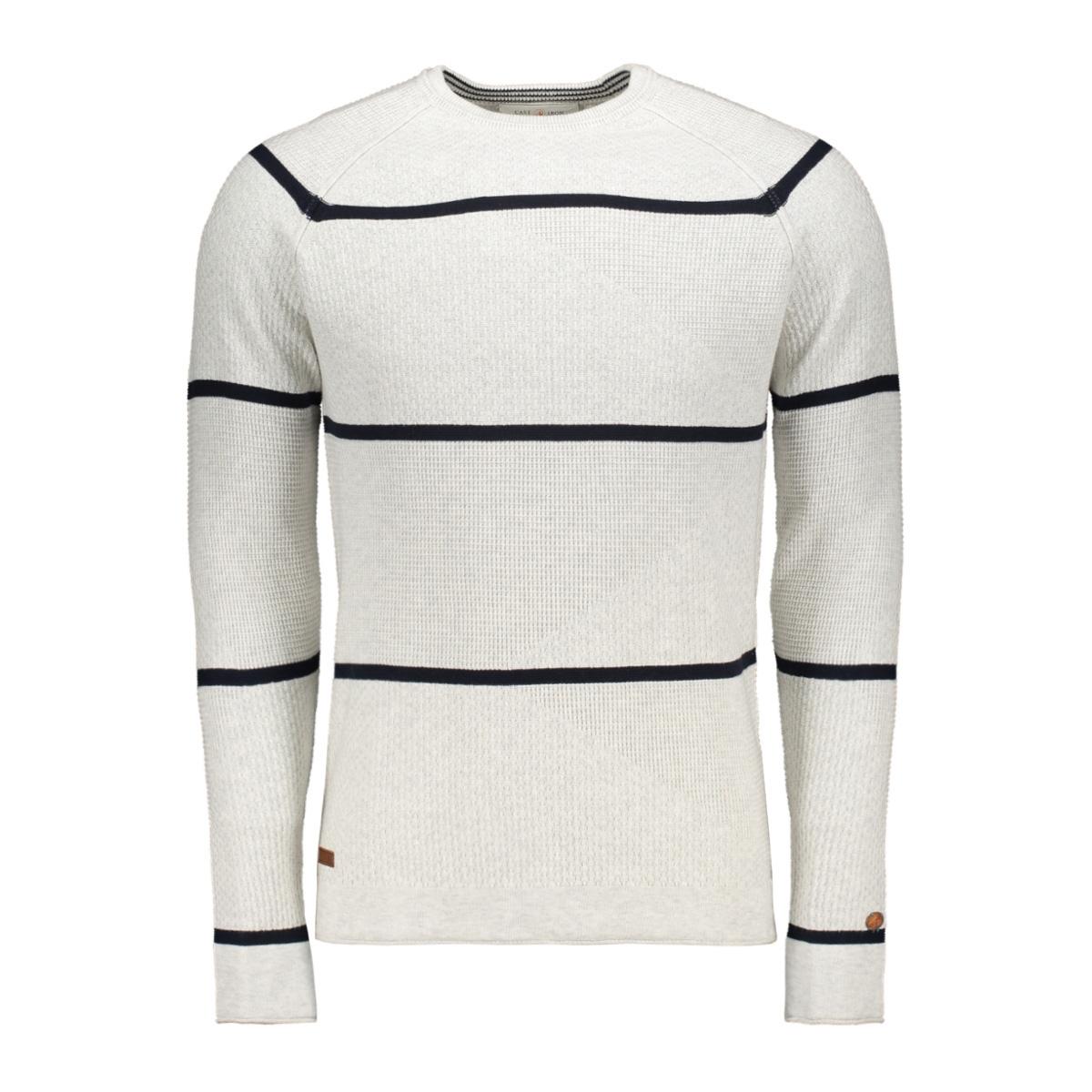 striped cotton pullover ckw195402 cast iron trui 7001