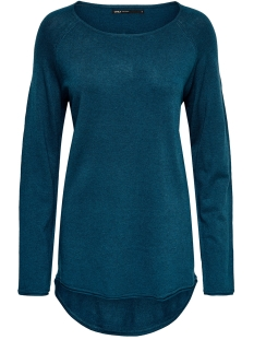 Only Trui ONLMILA LACY L/S LONG PULLOVER KNT 15109964 Gibraltar Sea/W. MELANGE