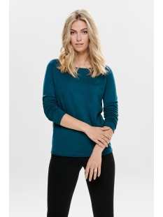 onlmila lacy l/s long pullover knt 15109964 only trui gibraltar sea/w. melange