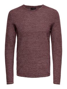 Only & Sons Trui onsWICTOR 12  STRUCTURE CREW NECK N 22012290 Zinfandel
