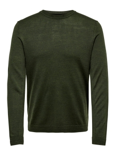 onstyler 12  m crew neck knit noos 22014162 only & sons trui forest night