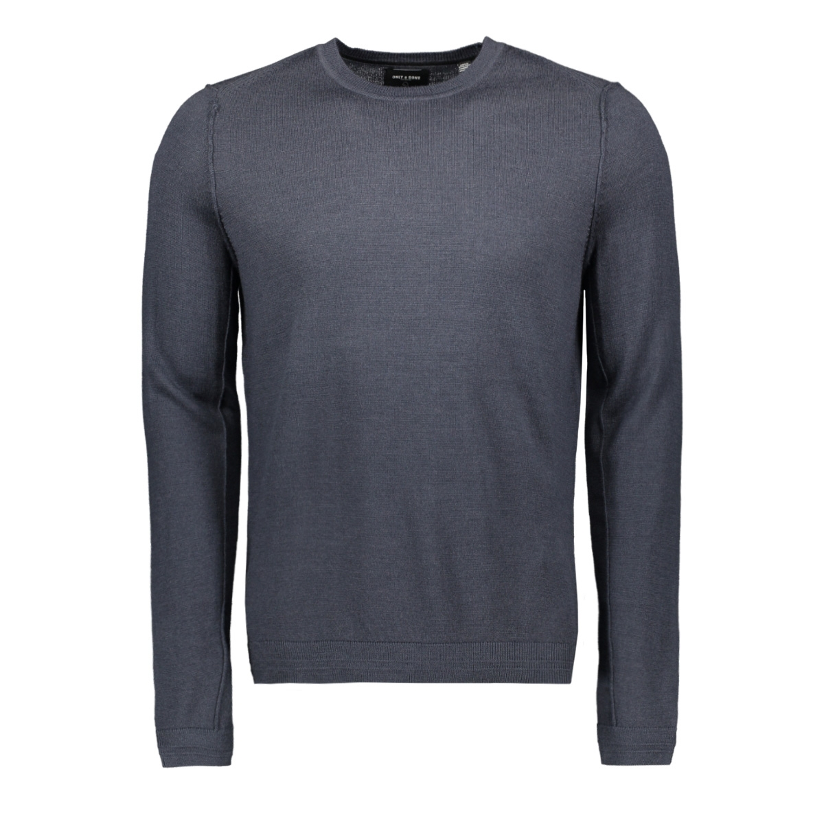 onstyler 12  m crew neck knit noos 22014162 only & sons trui blue nights
