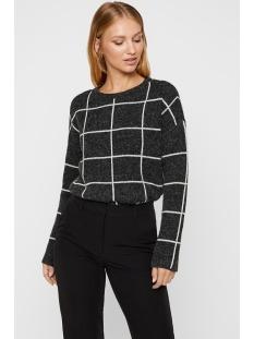 vmdoffy jacquard ls check blouse boo 10215650 vero moda trui black/birch