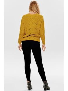 onlhavana l/s v-neck pullover cc kn 15181406 only trui golden yellow