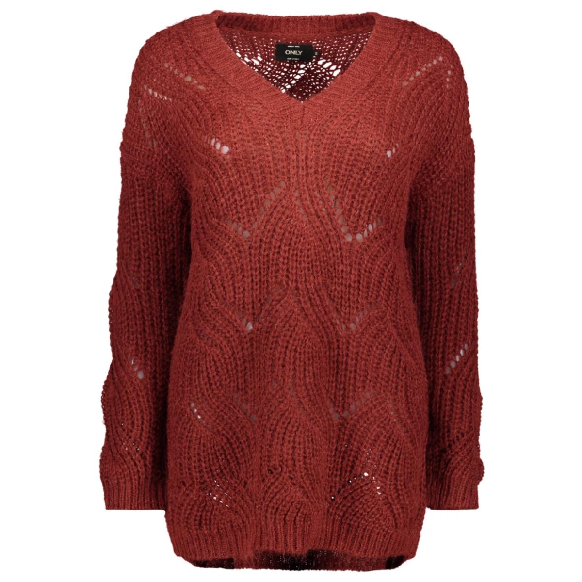 onlhavana l/s v-neck pullover cc knt 15181406 only trui merlot