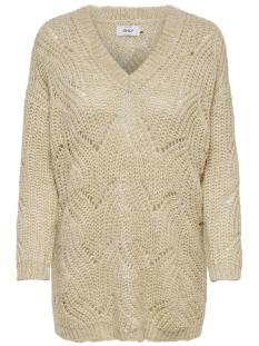 onlhavana l/s v-neck pullover cc kn 15181406 only trui pumice stone/melange