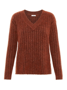 pcnew sanni ls wool v-neck knit 17097452 pieces trui picante