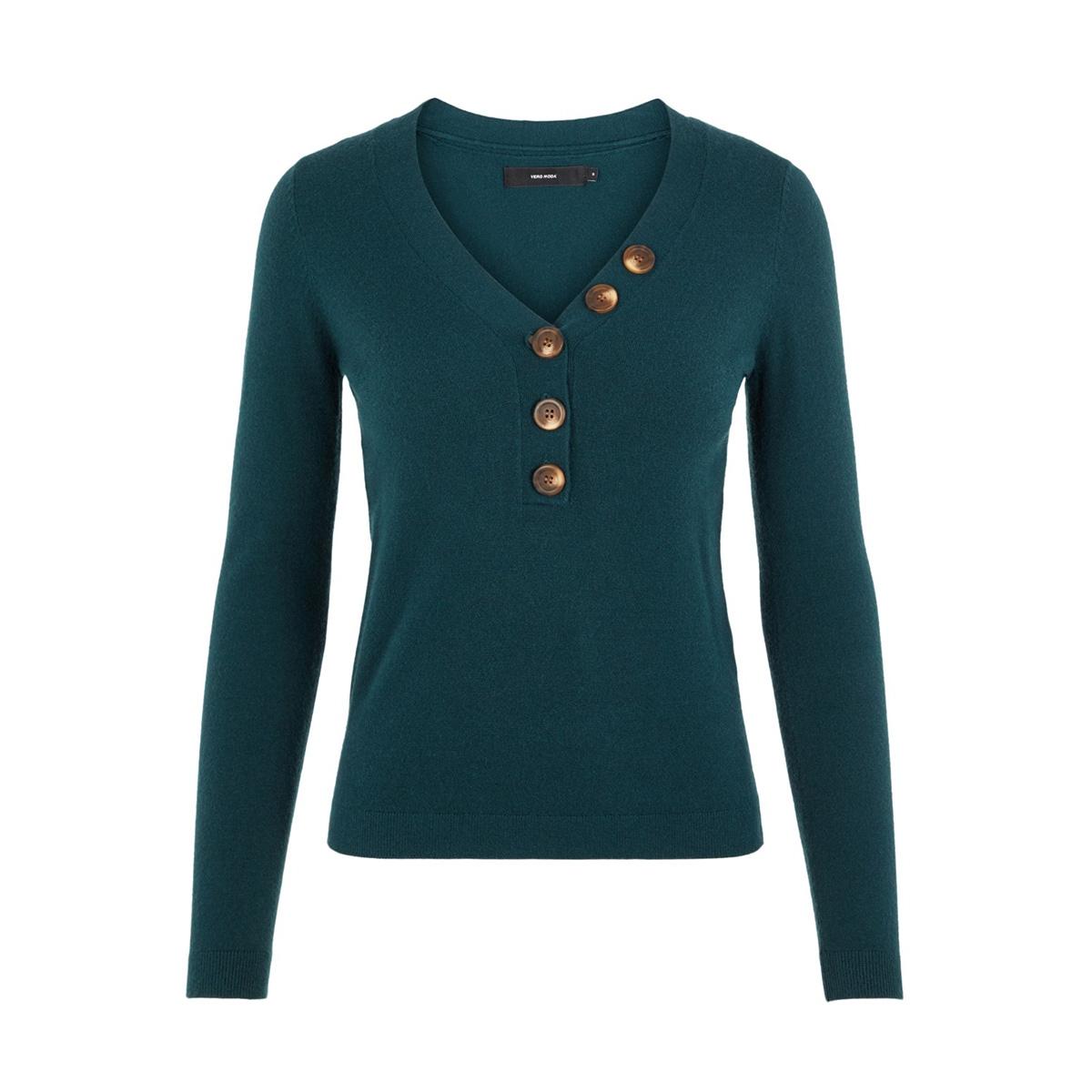 vmchip karis ls v-neck button blous 10215761 vero moda trui ponderosa pine