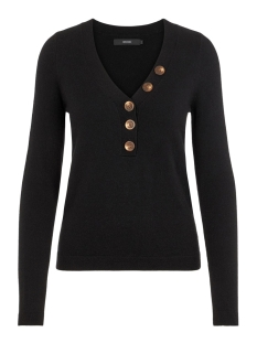 Vero Moda Trui VMCHIP KARIS LS V-NECK BUTTON BLOUSE BOO 10215761 Black