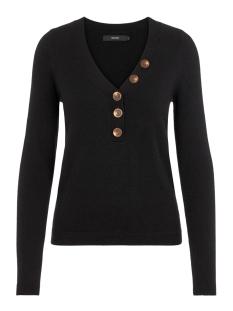 vmchip karis ls v-neck button blouse boo 10215761 vero moda trui black
