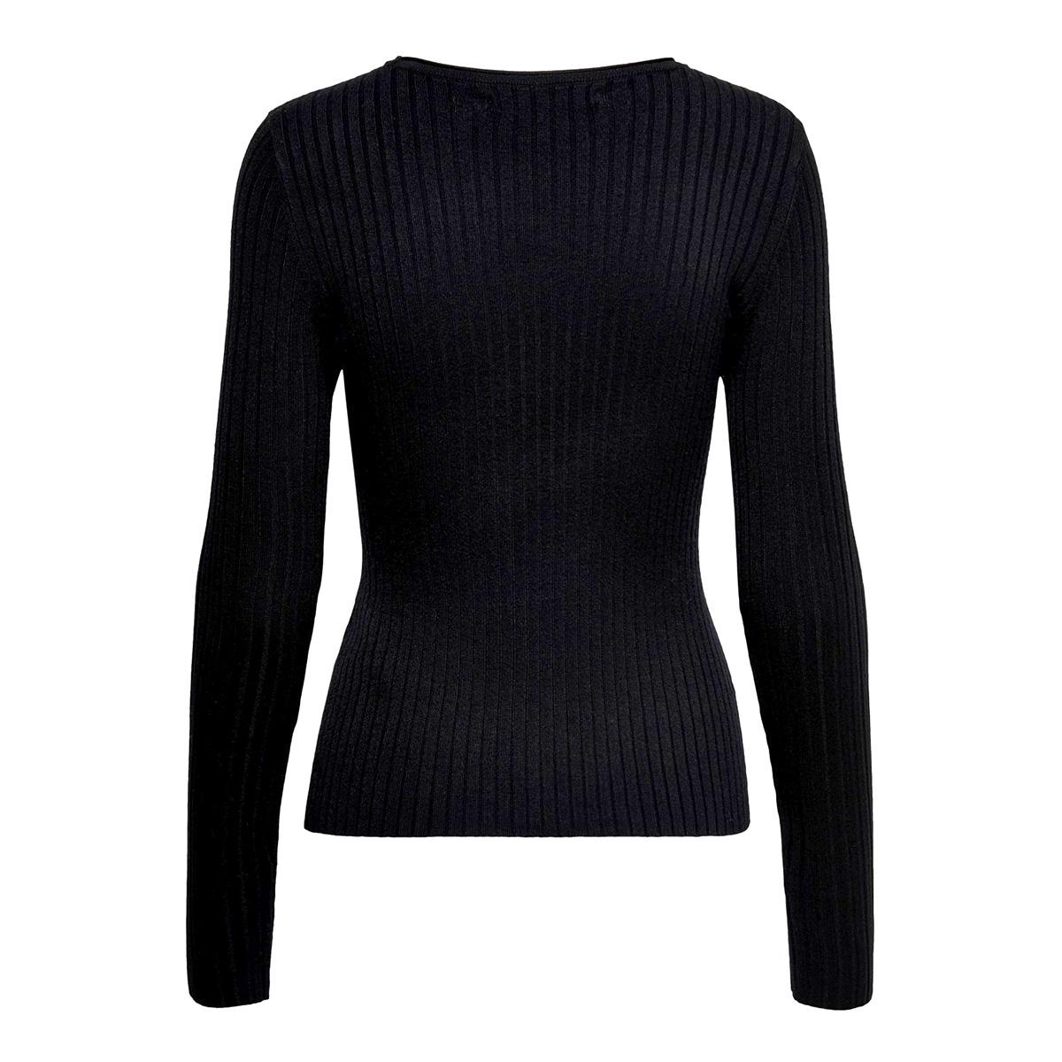 onlnatalia l/s rib pullover knt noos 15169458 only trui black