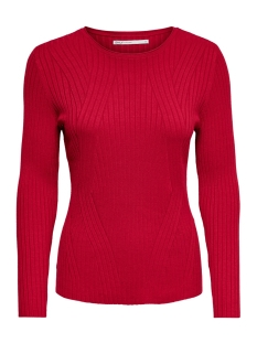 Only Trui ONLNATALIA L/S RIB PULLOVER KNT NOOS 15169458 Jester Red