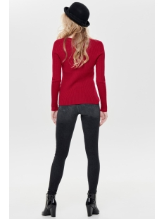onlnatalia l/s rib pullover knt noos 15169458 only trui jester red