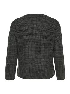 jdyjusty 7/8 noos pullover knt 15154667 jacqueline de yong trui dark grey melange