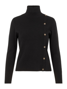 Pieces Trui PCICY LS ROLL NECK KNIT 17099545 Black