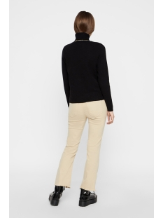 pcicy ls roll neck knit 17099545 pieces trui black